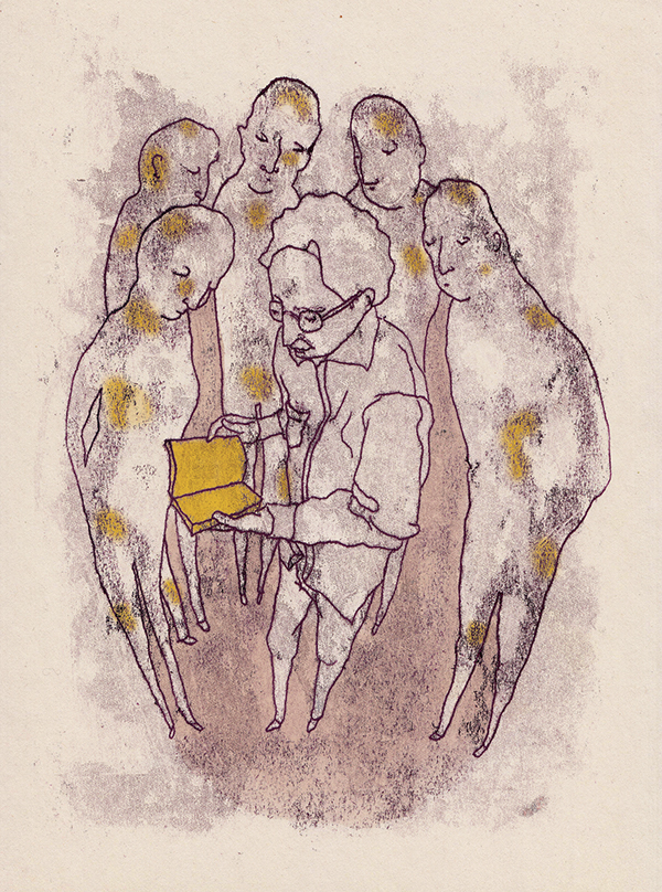 Illustration for an  article  in Sabitfikir Magazine about Egyptian writer Sonallah Ibrahim, 2014