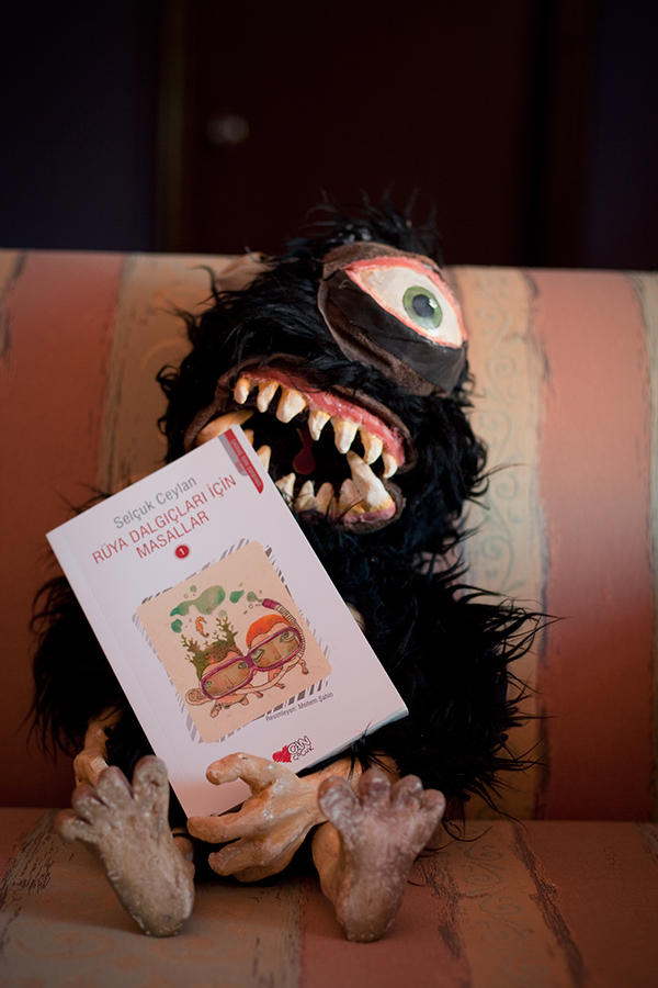 My monster is helping me promote the book!