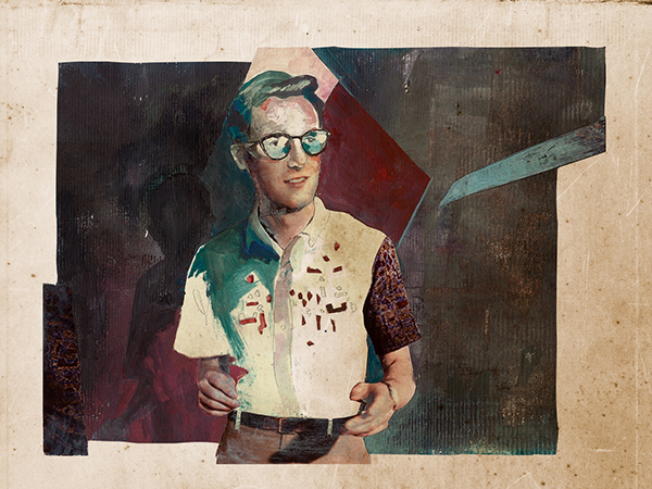 Illustration of Nick Waterhouse for Bantmag