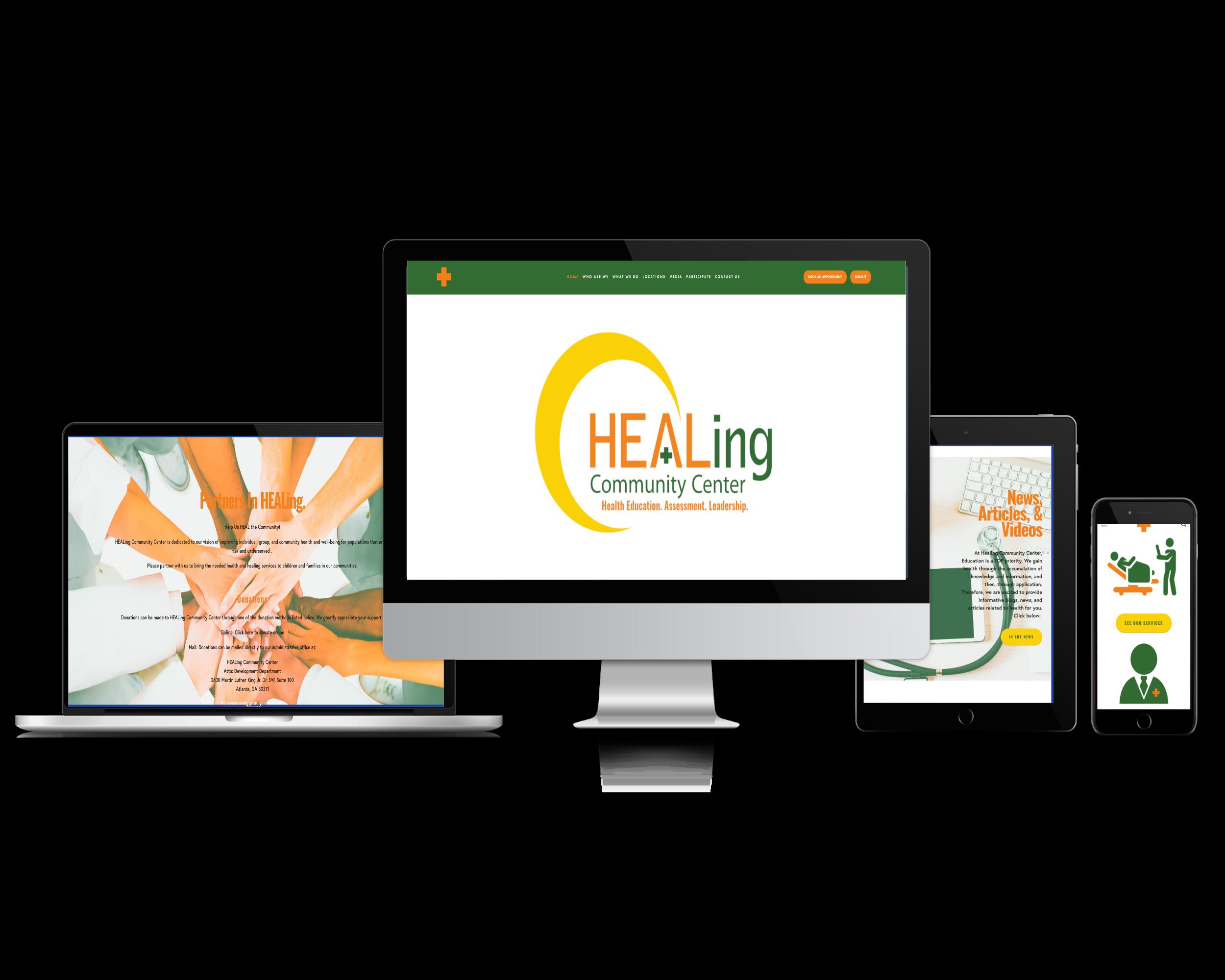 Healing Community Center (Health Center Website)
