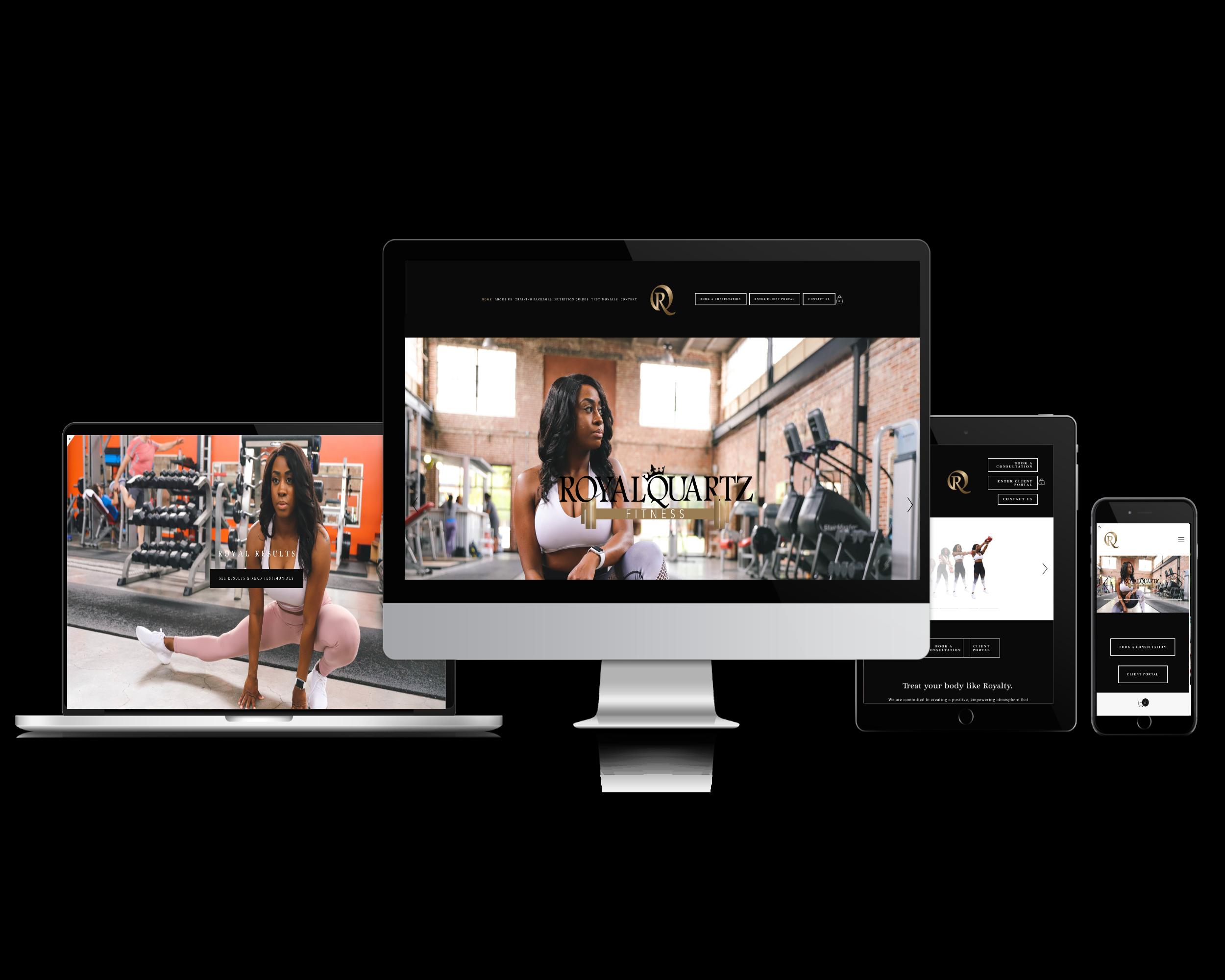 Royal Quartz Fitness (Personal training website)