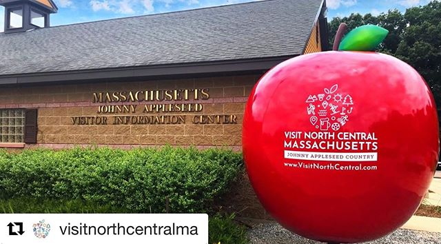 #Repost @visitnorthcentralma with @get_repost ・・・ REVEALING The Big Apple of New England- A 10 ft. tall apple structure that is heralded at our Johnny Appleseed Visitors' Center- serving as a beacon to tourists and travelers in North Central Massachusetts!  Be sure to take a selfie with it and use the hashtag: #BigAppleofNE!
