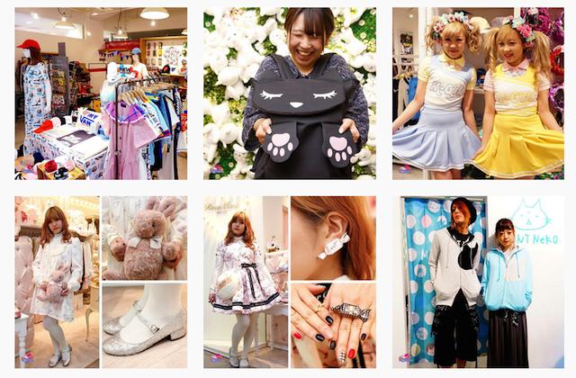Imágenes de ropa kawaii procedentes de la  cuenta de Instagram de Kawaiiofficial