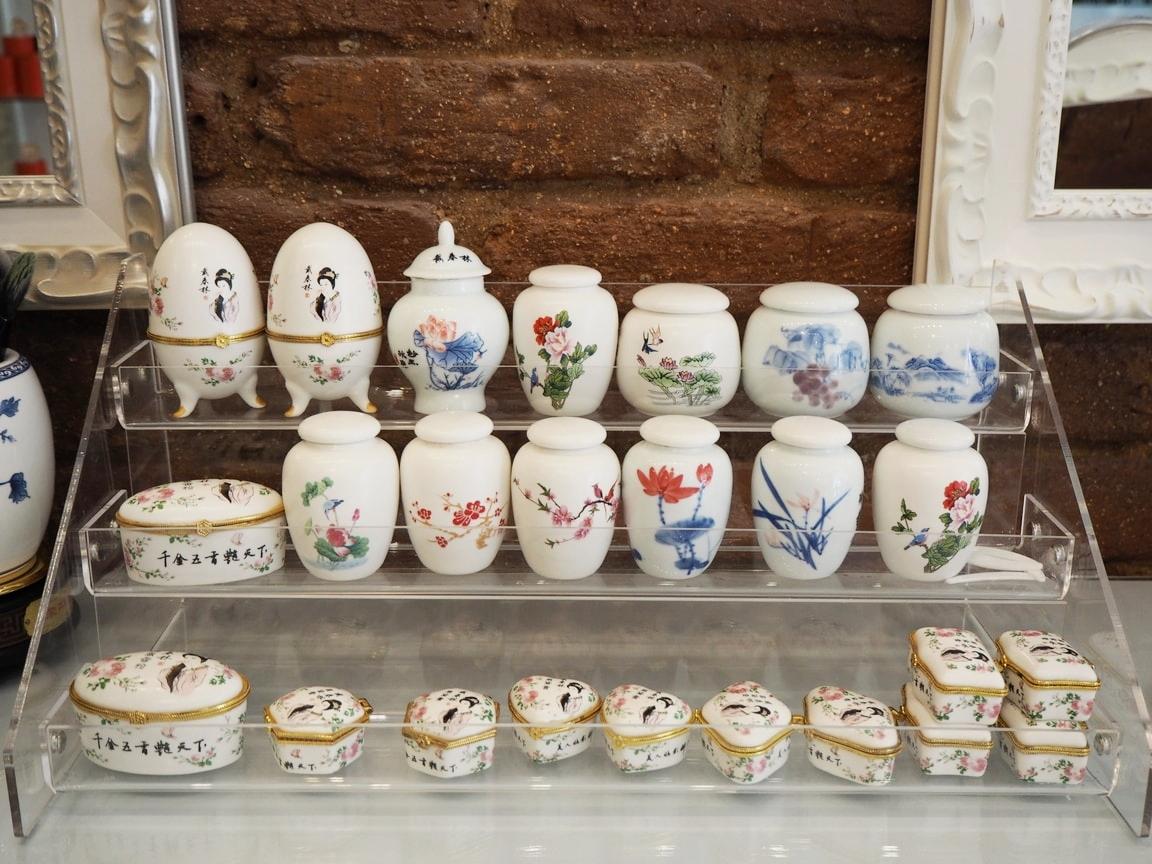 Piezas de cerámica china hecha a mano