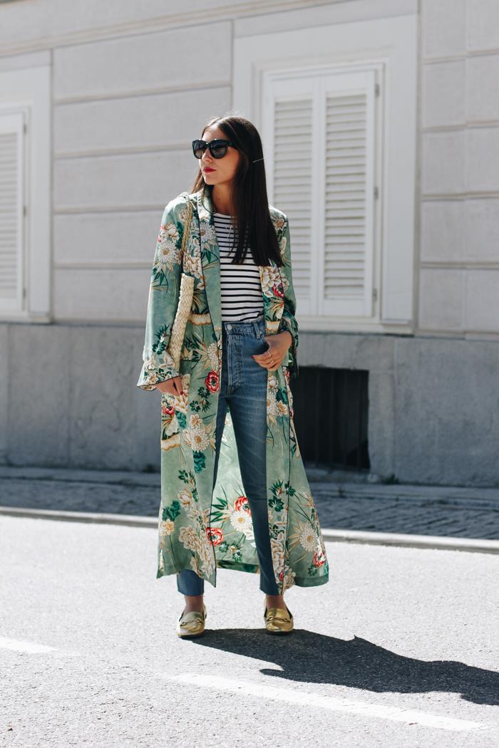 Aquí vemos a Erea Louro con un kimono de Zara de 2017
