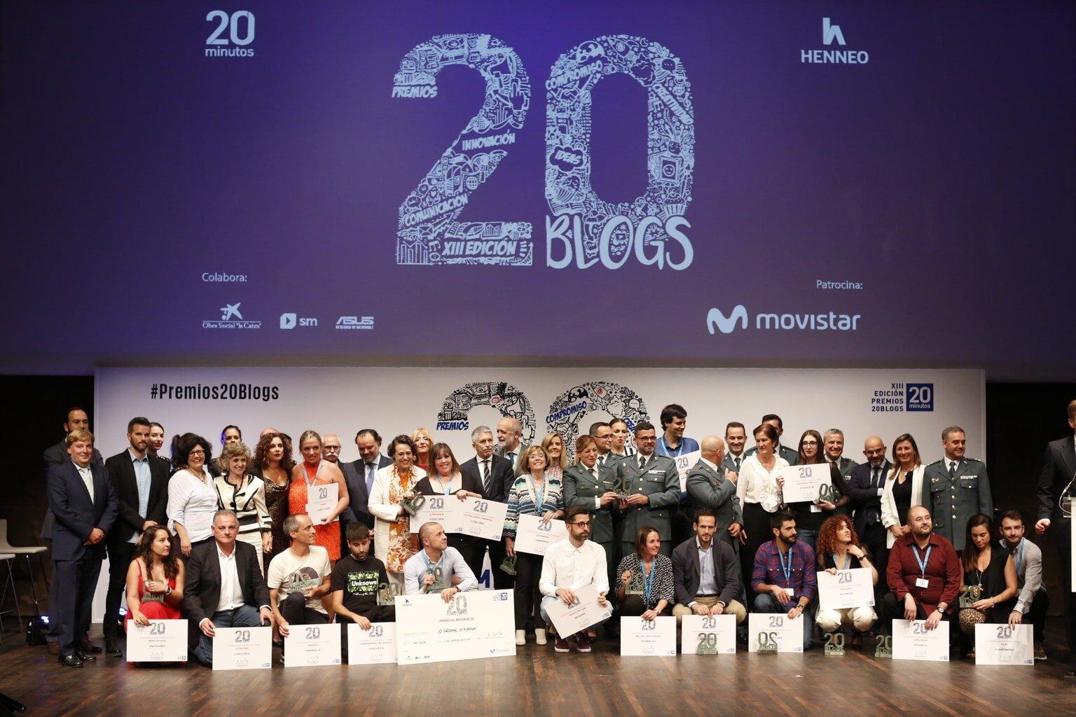Foto con todos los premiados