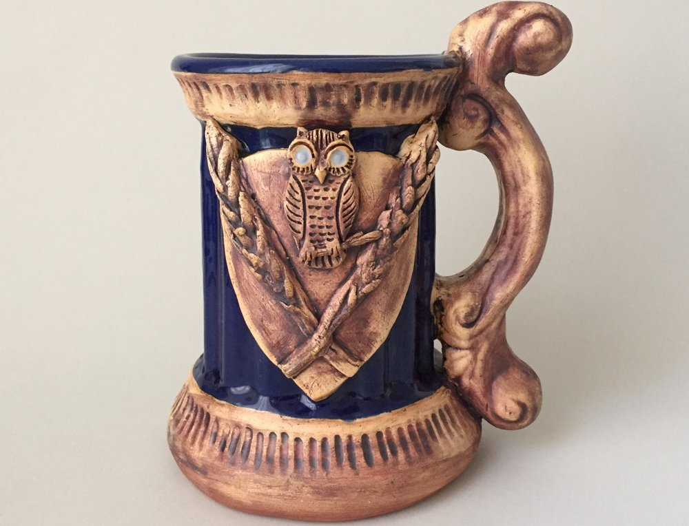 Decorated Beer Stein