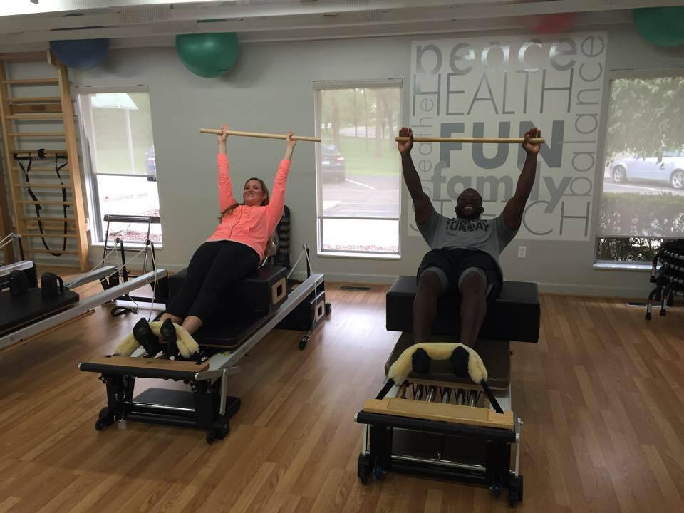 Allegro Dance owner, Jenn Montie, instructing Detroit Lions' Middle Linebacker, Stephen Tulloch, at Equilibrium Pilates Studio. ( Click image to see   LOCAL 4   News segment )