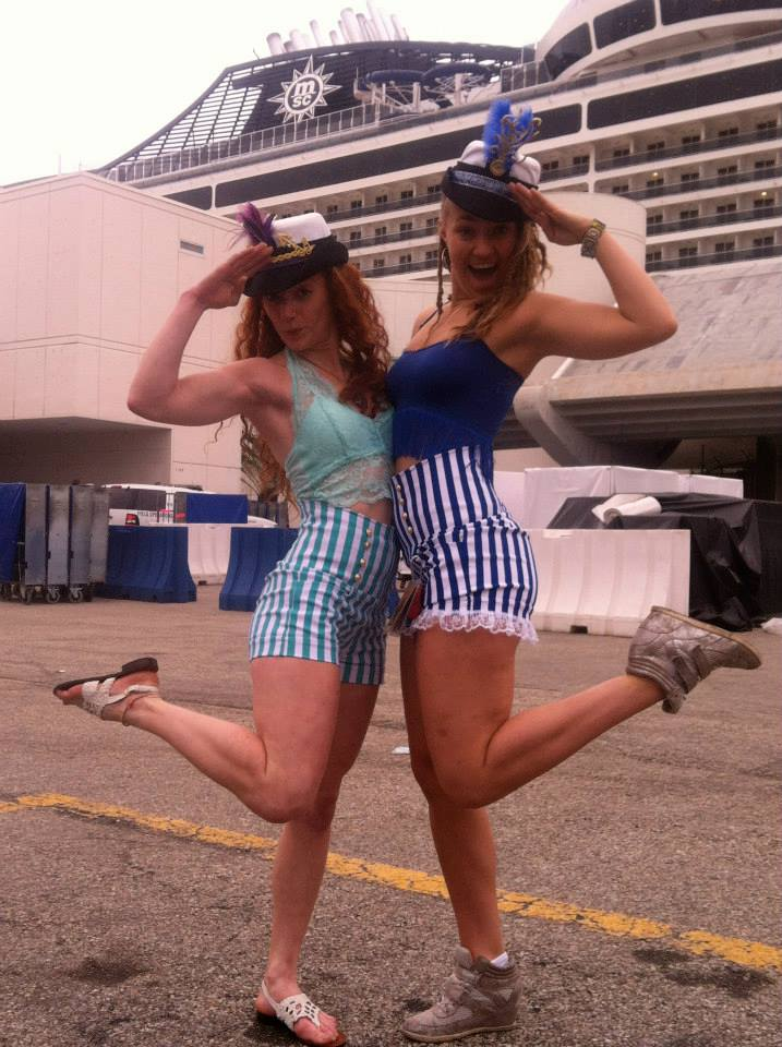 Mary and me ready to set sail on Jam Cruise!
