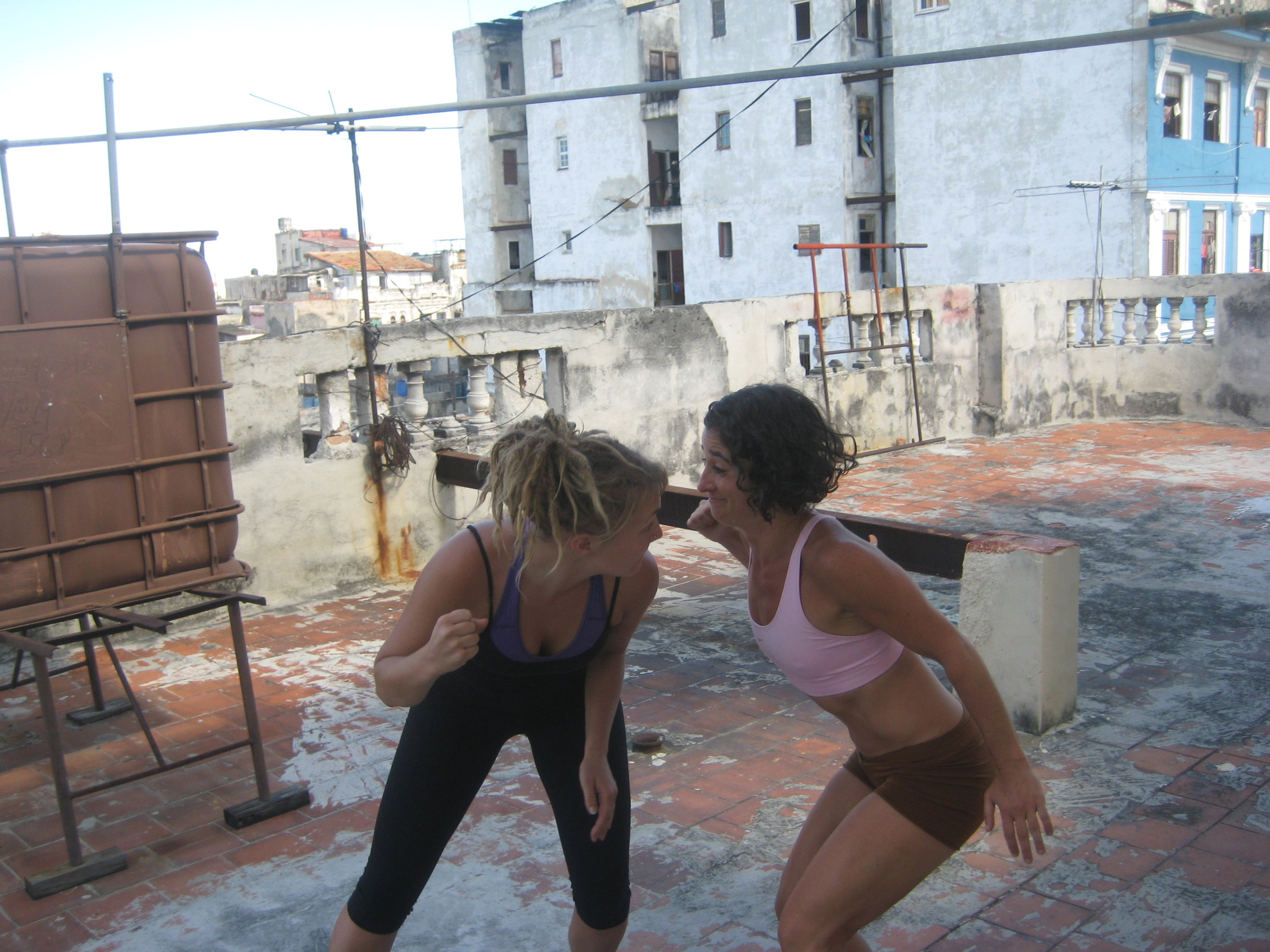 Dance class on our rooftop studio!