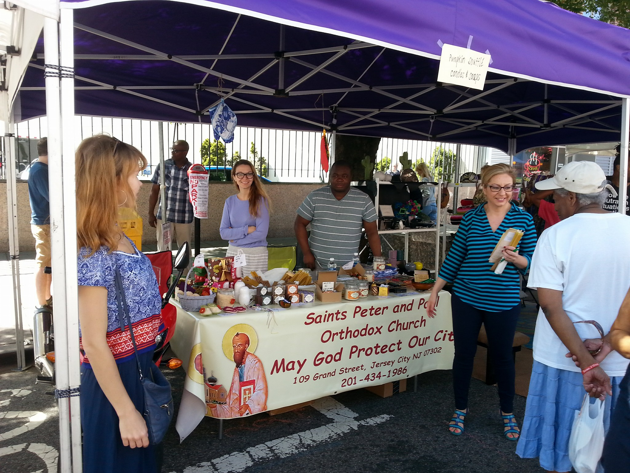 Parish Outreach Committee at an annual Jersey City event