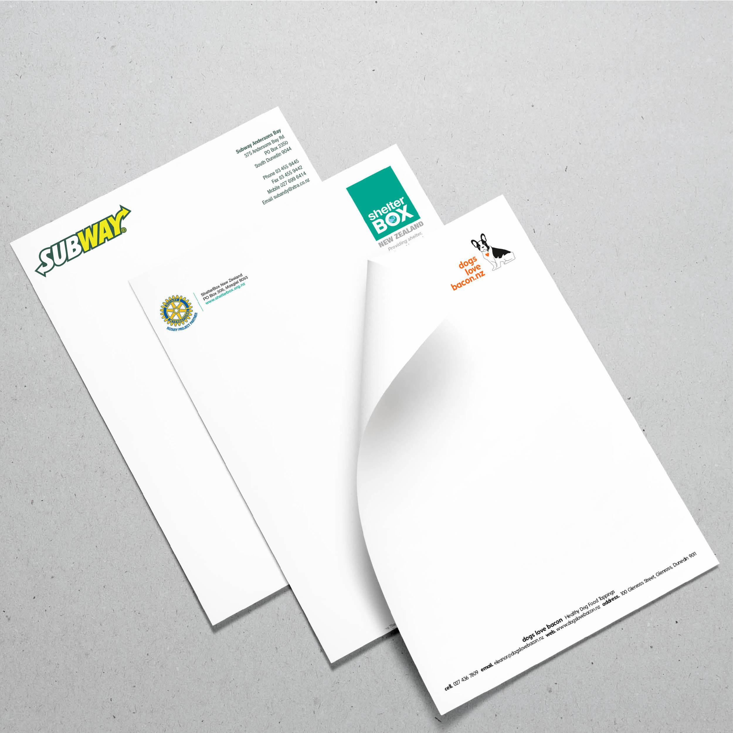 Letterhead Printing Dunedin