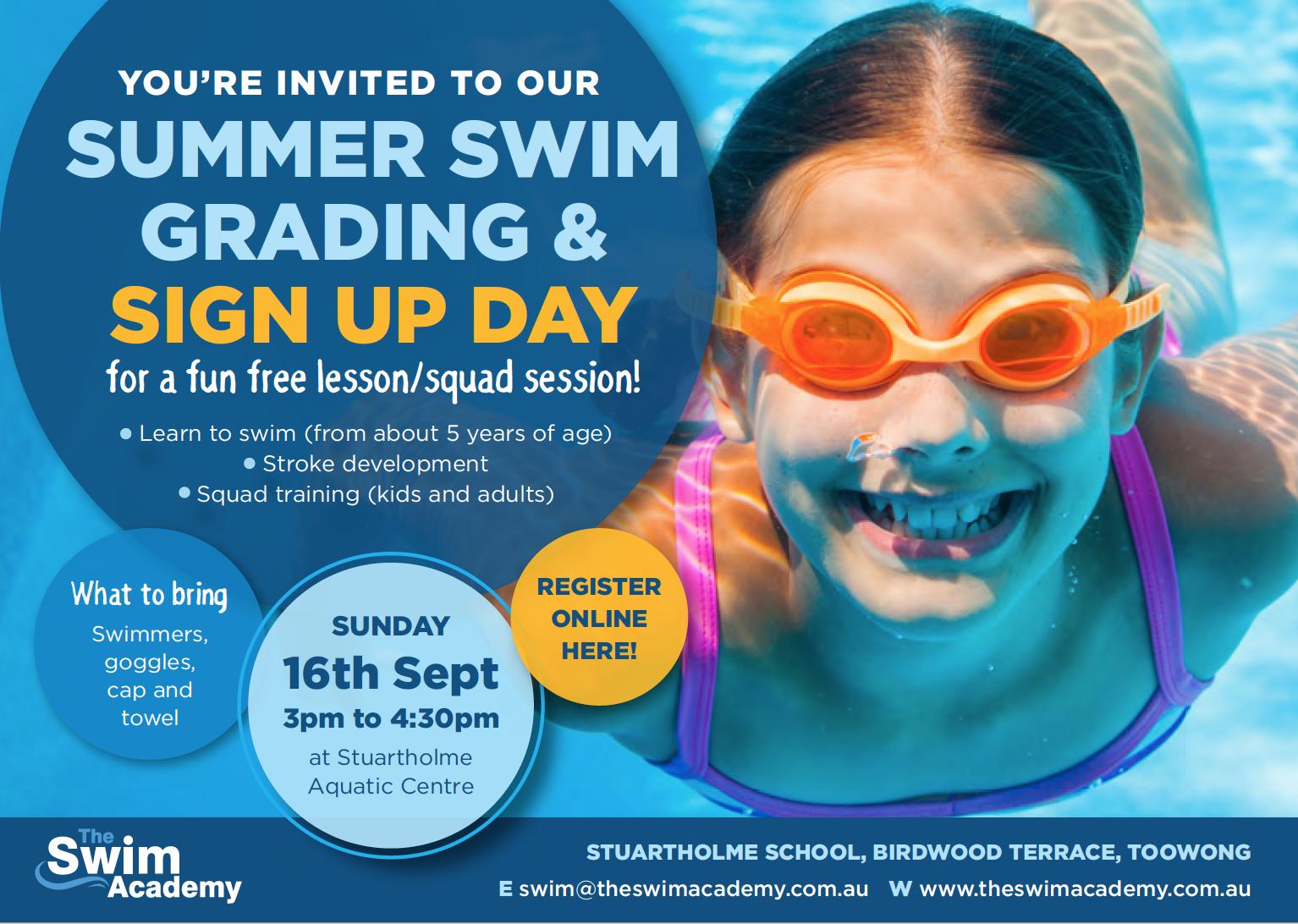 The Swim Academy Brisbane - Register now - term 4 swim