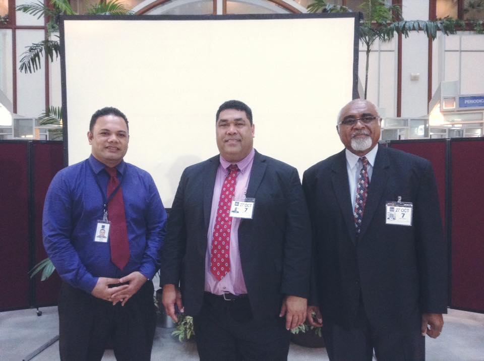 PASAI Chief Executive and PASAI Advocate with  Mr Viliami Sefesi, Financial Control Specialist at ADB.