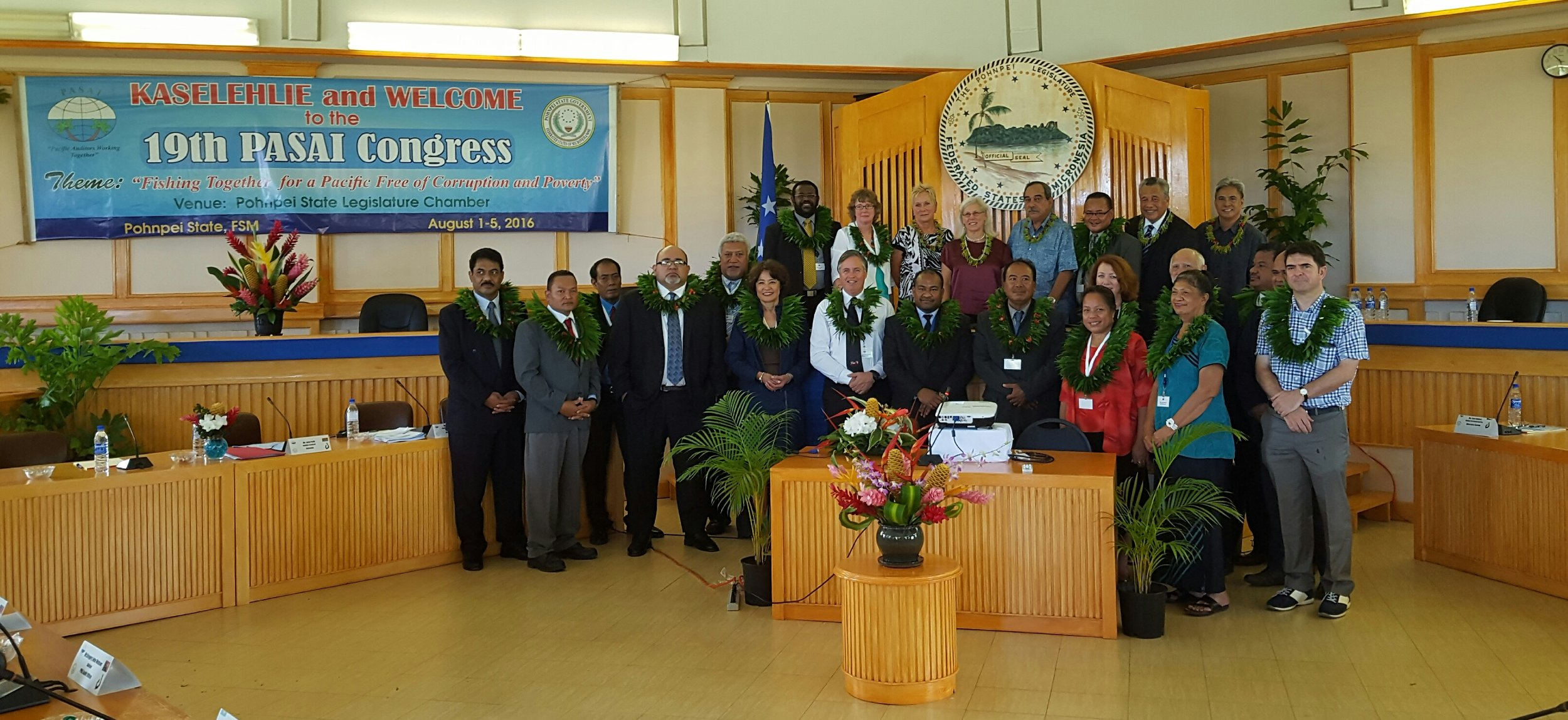 PASAI 19th Congress delegates in Pohnpei, Federated States of Micronesia.