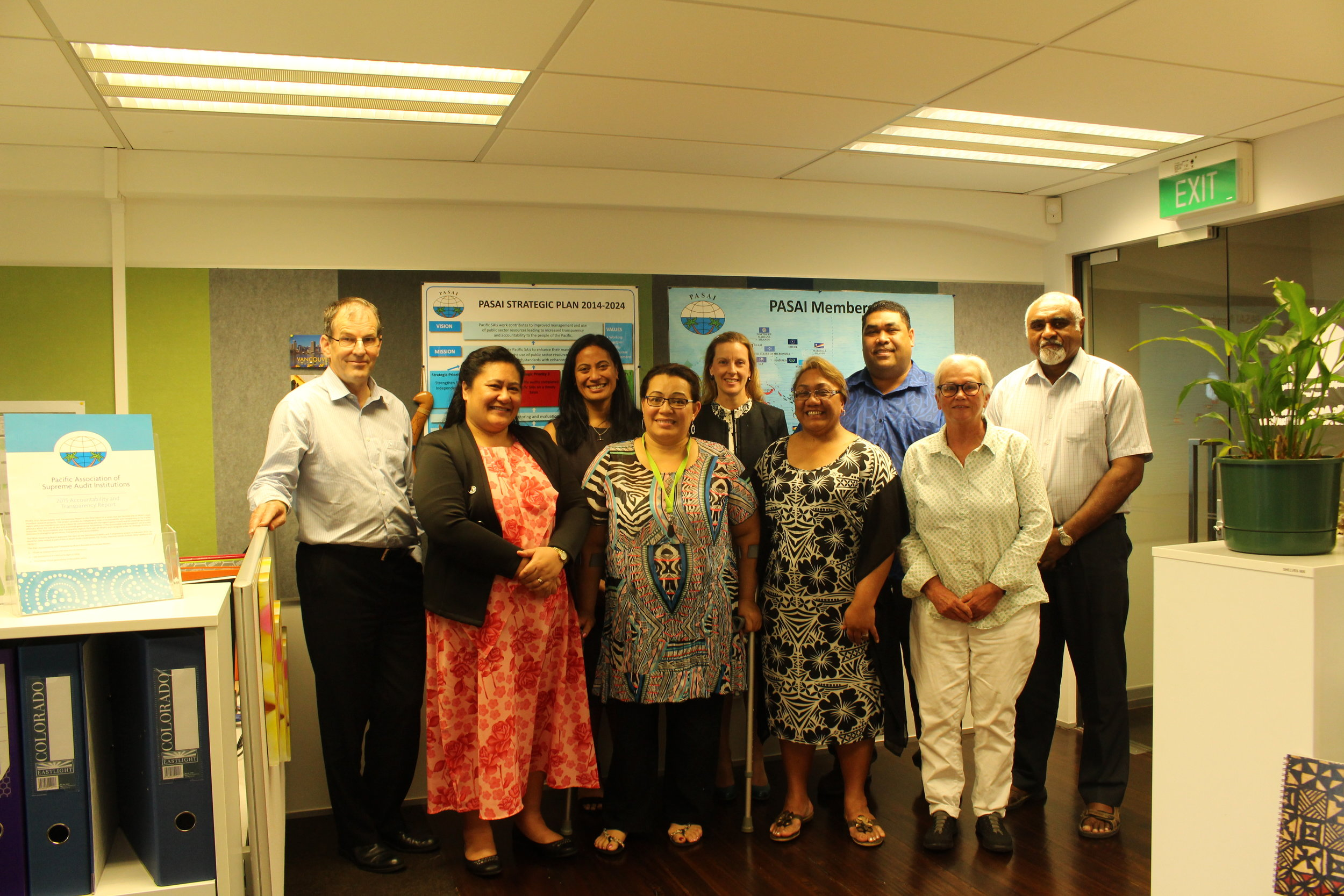 PASAI Secretariat Team Planning Meeting -  The PASAI Secretariat Team at the Parnell, Auckland office.