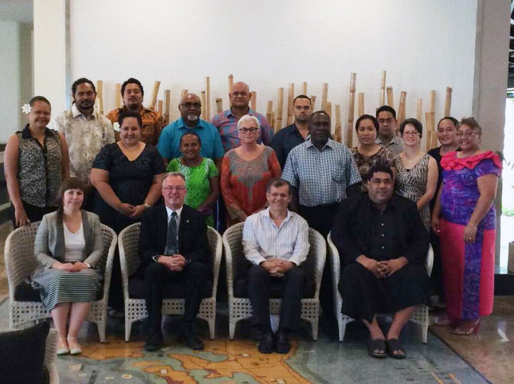 IDI workshop, Tonga - the workshop facilitators, advisors and participants.