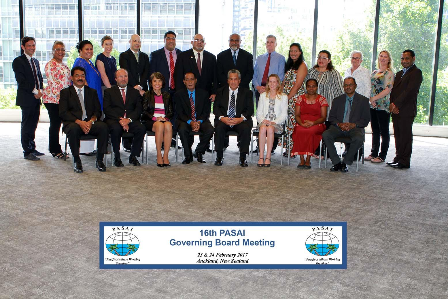 Photo above: PASAI Governing Board members with Development Partners and PASAI Secretariat staff.