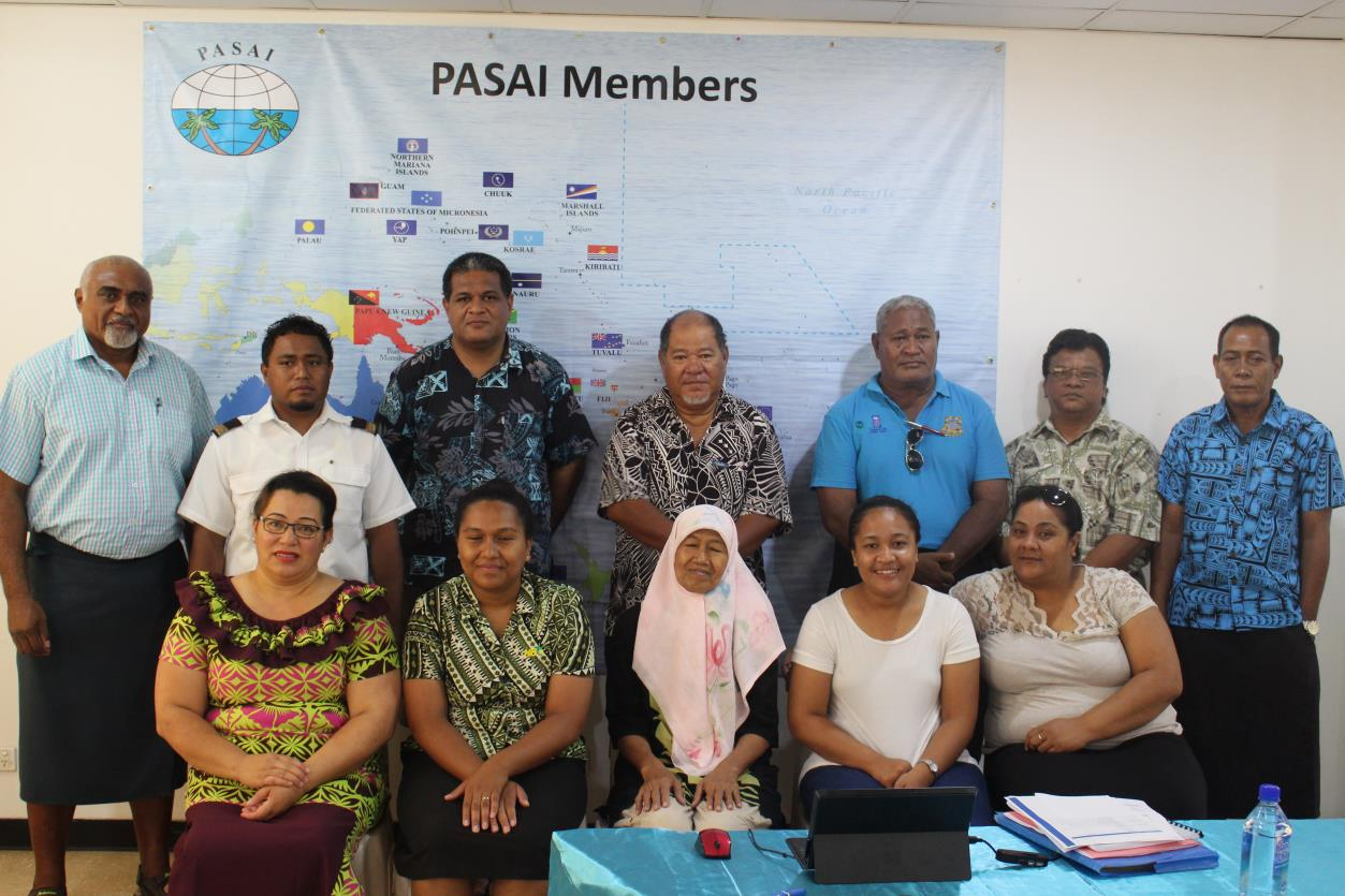 Photo above: Participants to the workshop from Audit Entities represented mainly by Chair of Board of Directors of State Owned Enterprises and Accounting Staff of Public Bodies of Tuvalu