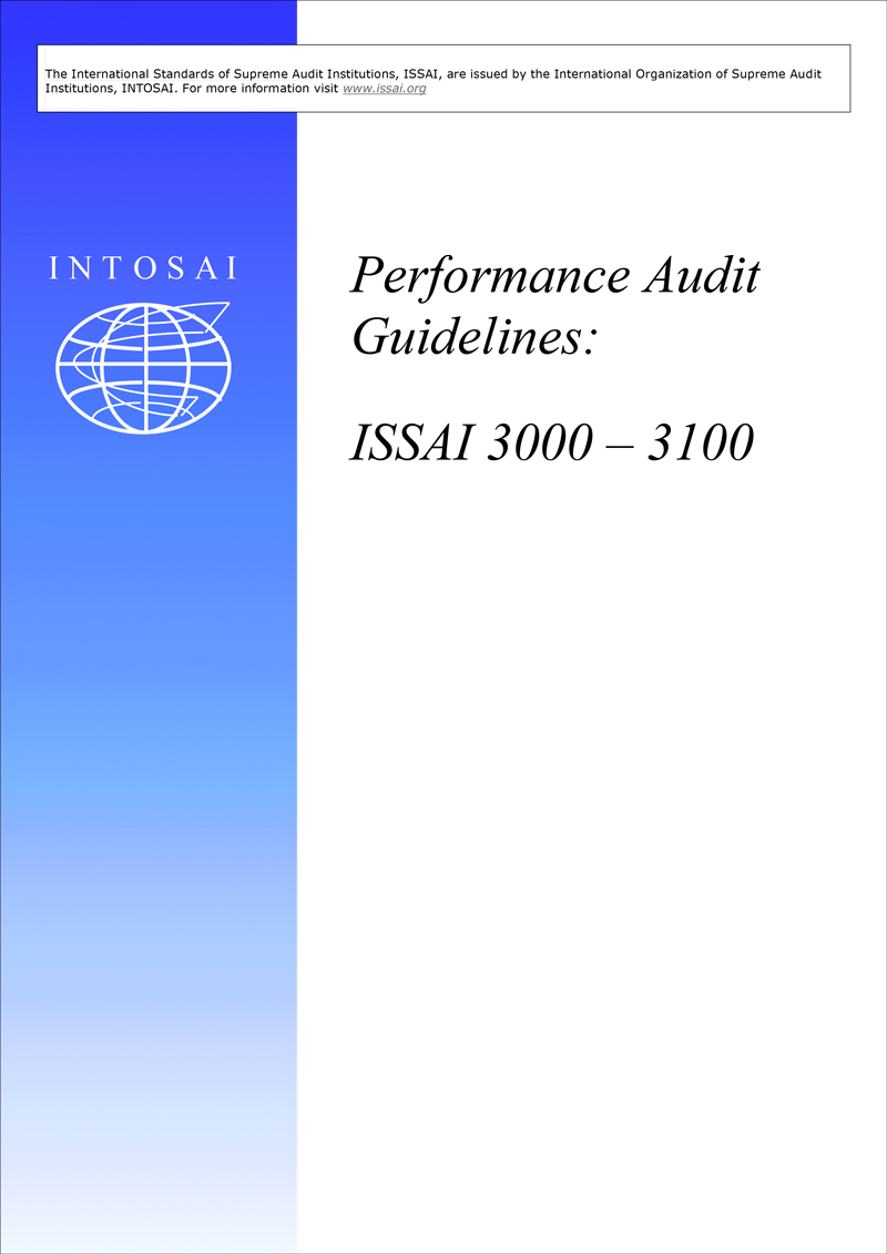 2. PERFORMANCE AUDIT GUIDELINES - ISSAIs 3000 - 3100