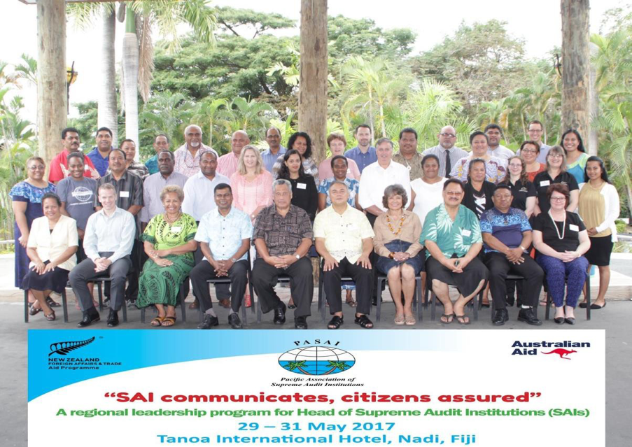 Photo: Pacific Auditors-General and Public Auditors and representatives from various stakeholders attended the regional workshop for heads of supreme audit institutions (SAIs) on enhancing effective communication with stakeholders, Nadi, Fiji.