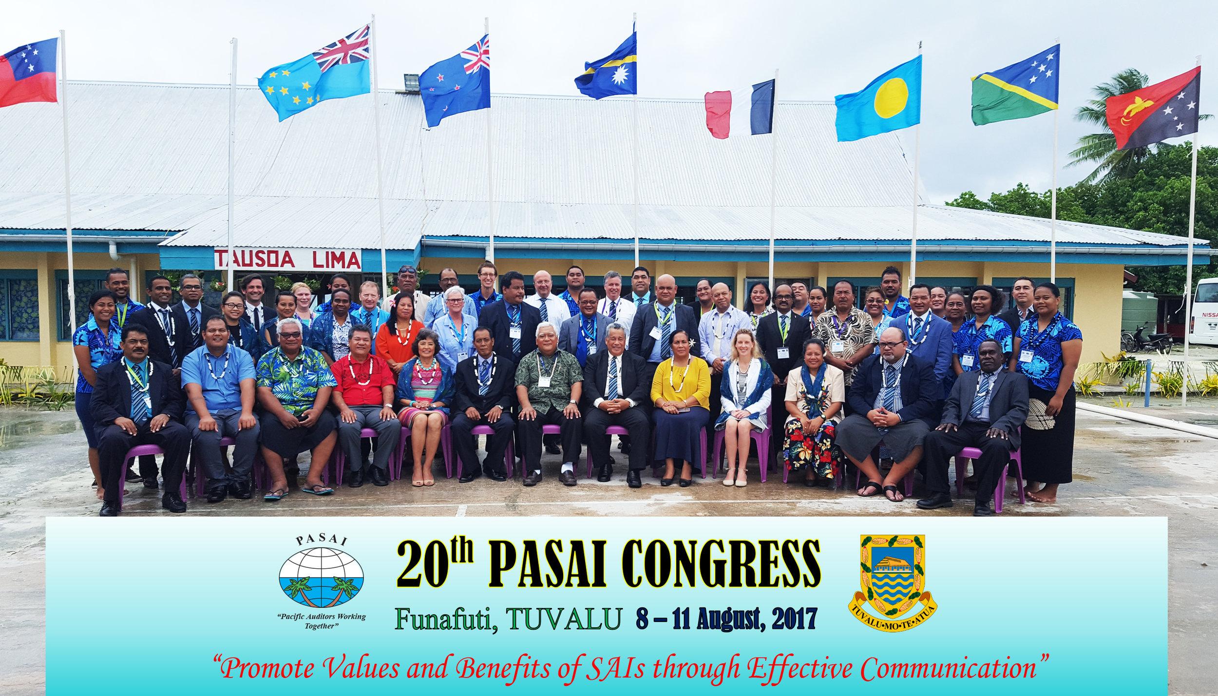 Delegates of the 20th Congress in Funafuti, Tuvalu.