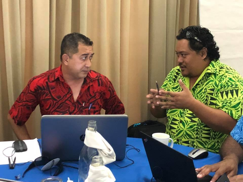 Participants from the Samoa Audit Office in the IDI/PASAI Review Workshop