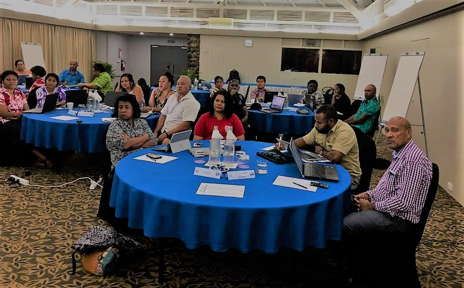 PASAI participants at the IDI/PASAI 6th Cooperative Performance Audit Programme Review in Nadi, Fiji, June 2018