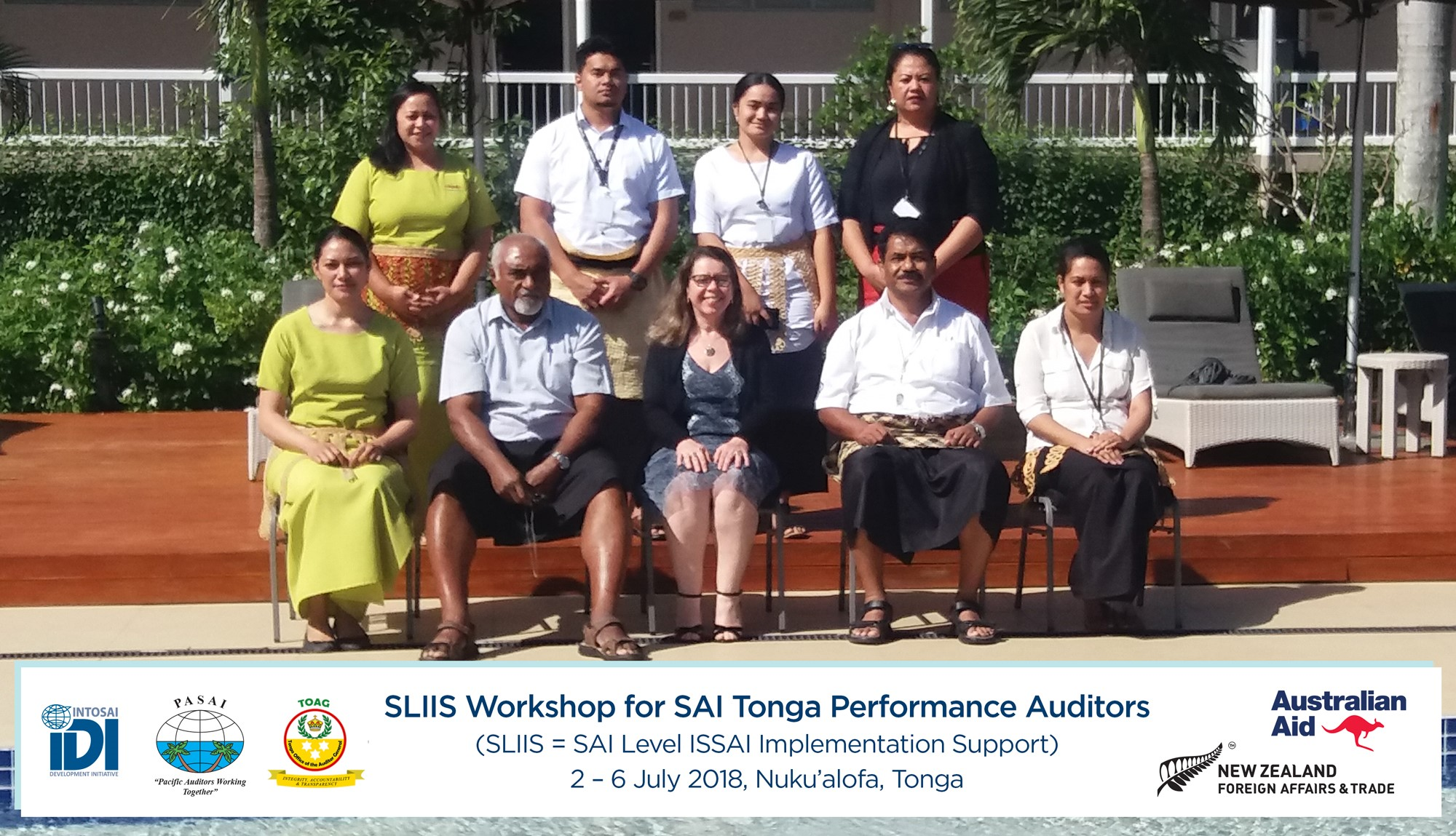 The TOAG workshop participants with the Facilitators and the Tonga Auditor-General.