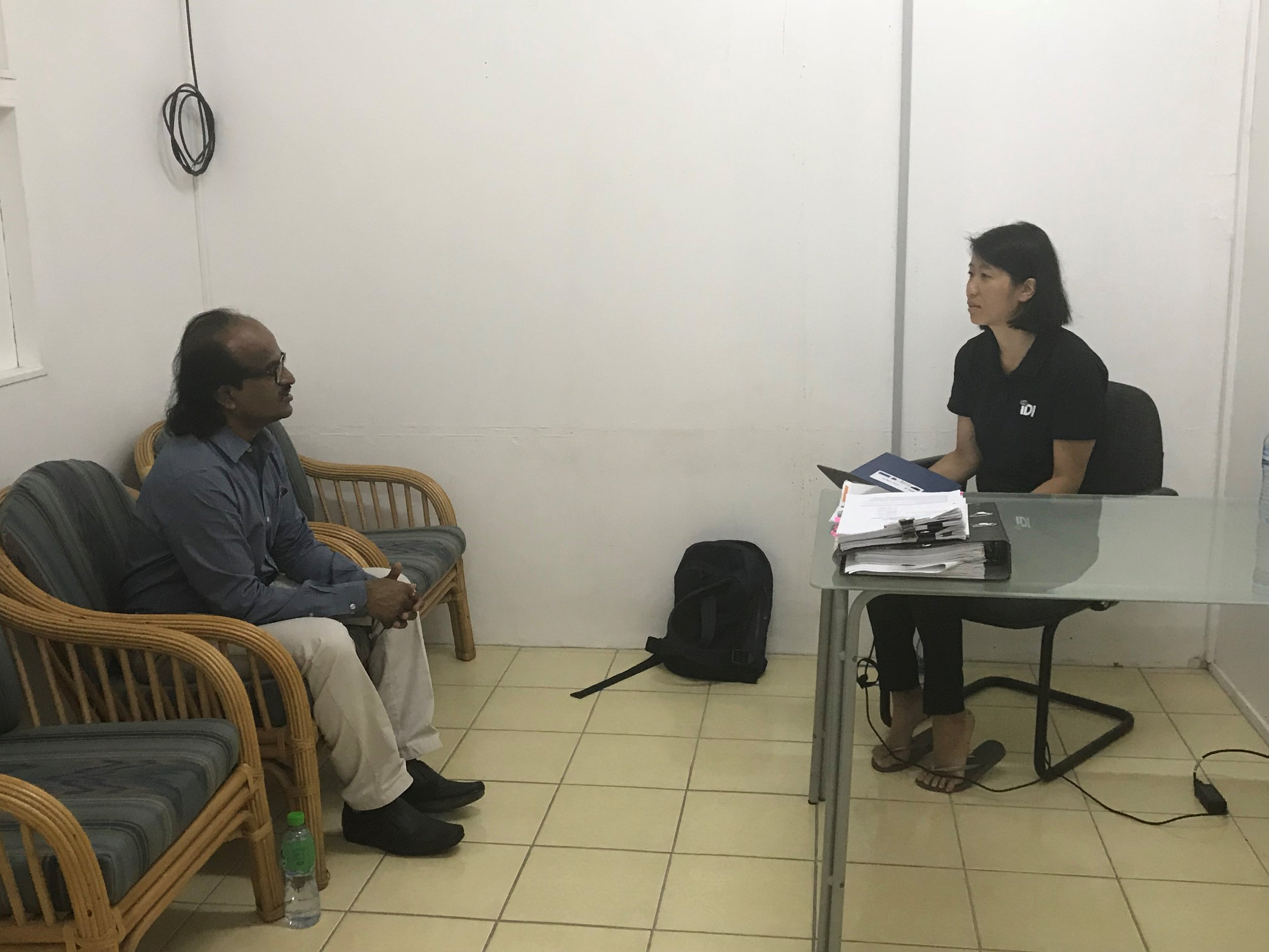 Nauru Auditor General, Manoharan Nair and Irina Sprenglewski of IDI