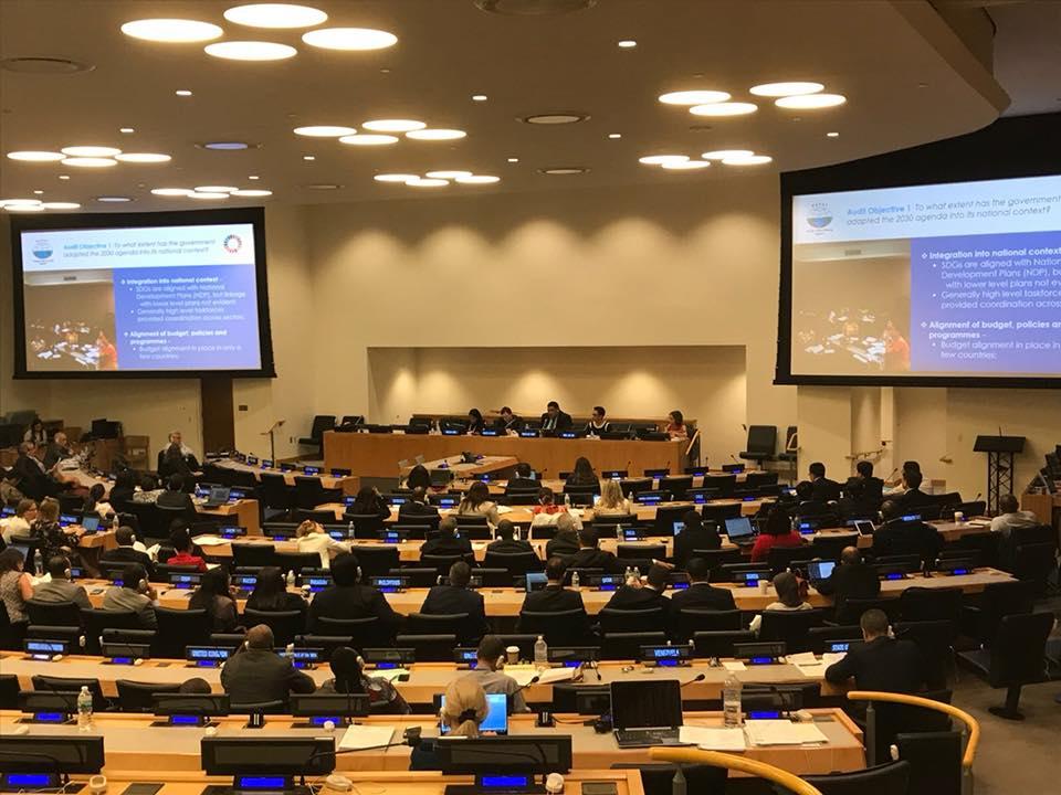 PASAI's Tiofilusi Tiueti presenting UN/IDI SDGs conference July 2018