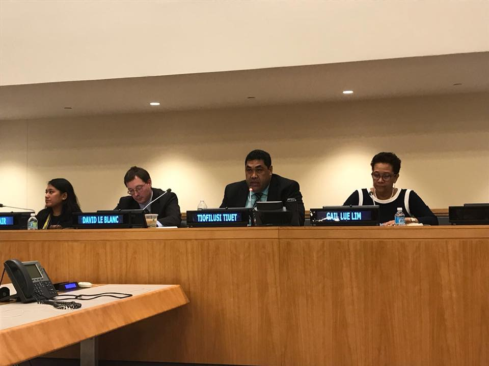 PASAI's Chief Executive, Tiofilusi Tiueti, presenting at UN/IDI conference on SDG implementation
