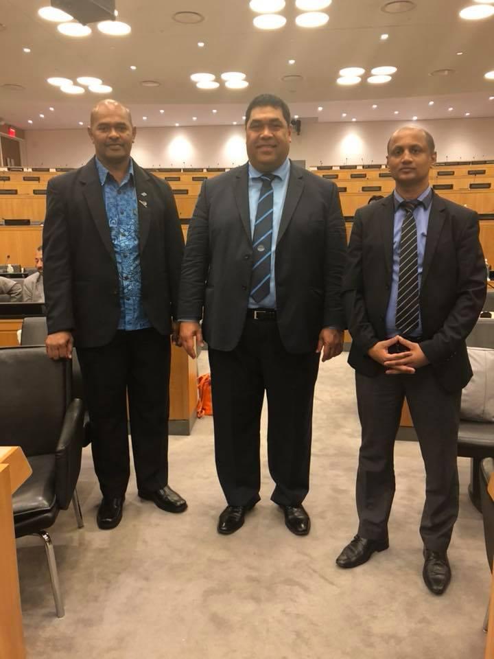Tiofilusi Tiueti with PASAI's representatives from Fiji's SAI