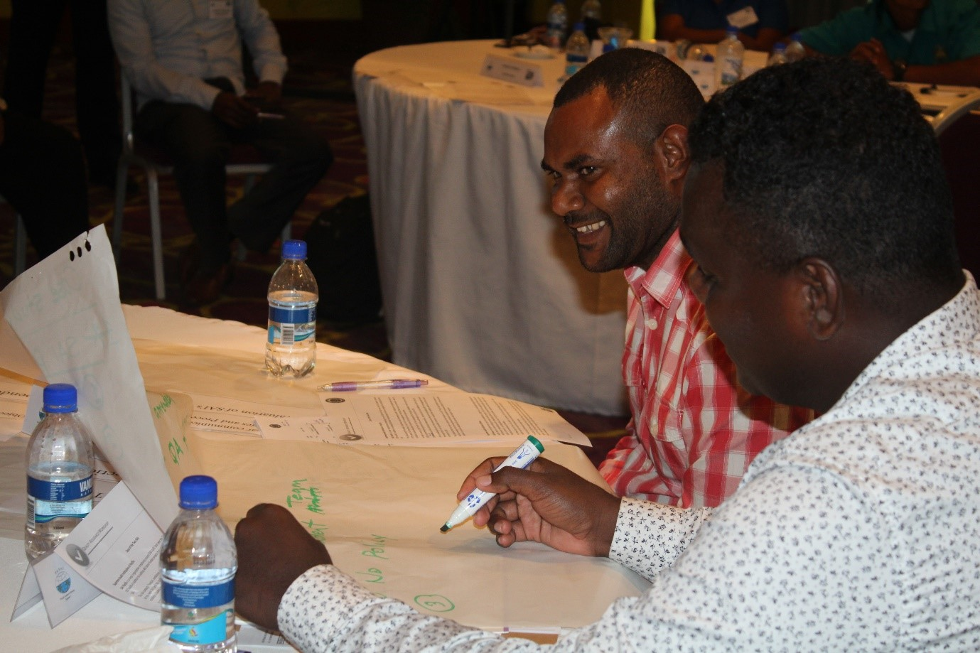 Delegates from PNG and Solomon Islands during workshop exercises.jpg