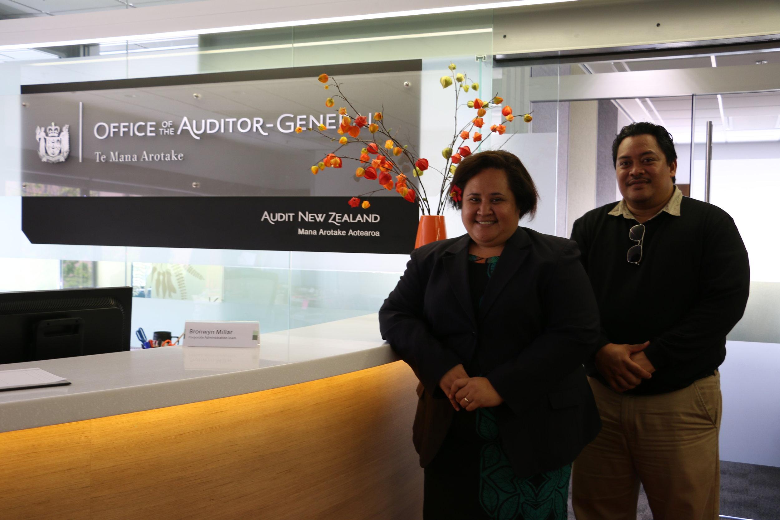 Marshall and Jaslyn in  OAG foyer.JPG
