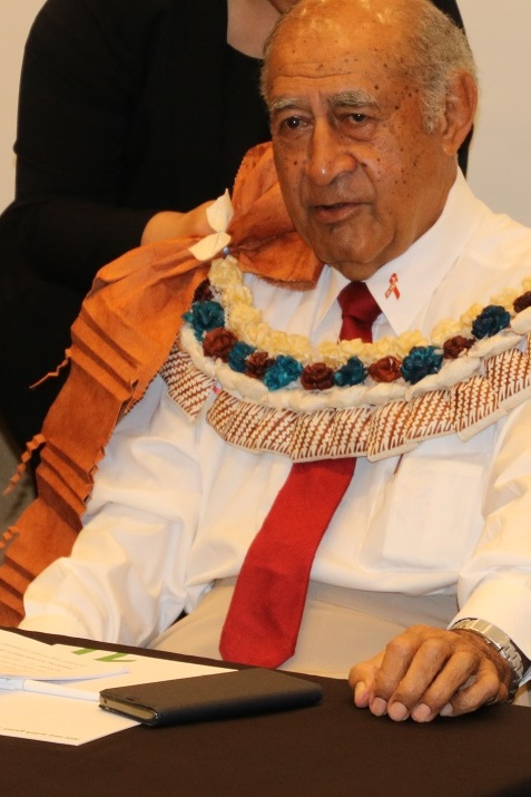 Honorable Speaker of Parliament, Ratu Epeli Nailatikau, who opened the workshop