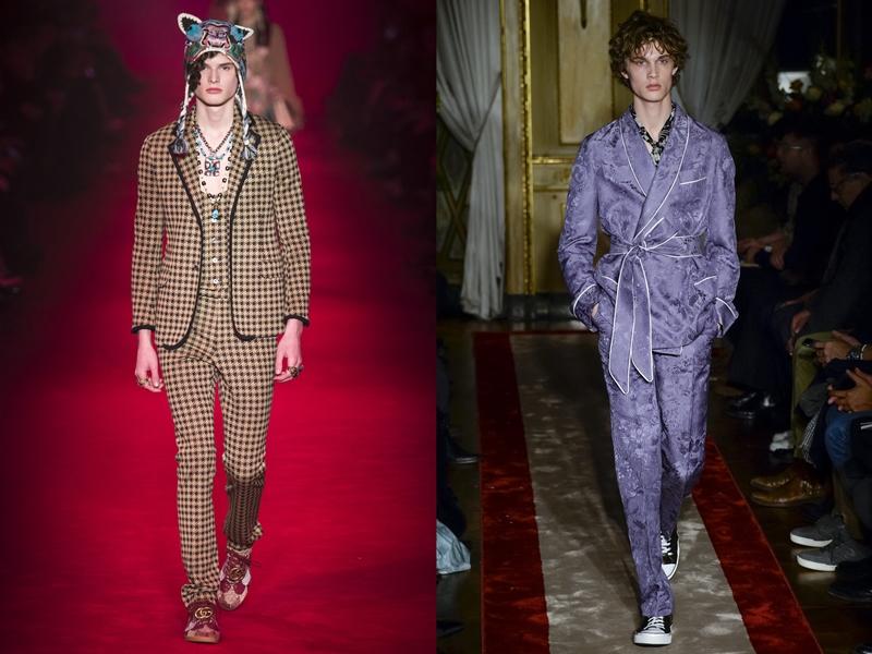 Gucci (left), Roberto Cavalli (right)