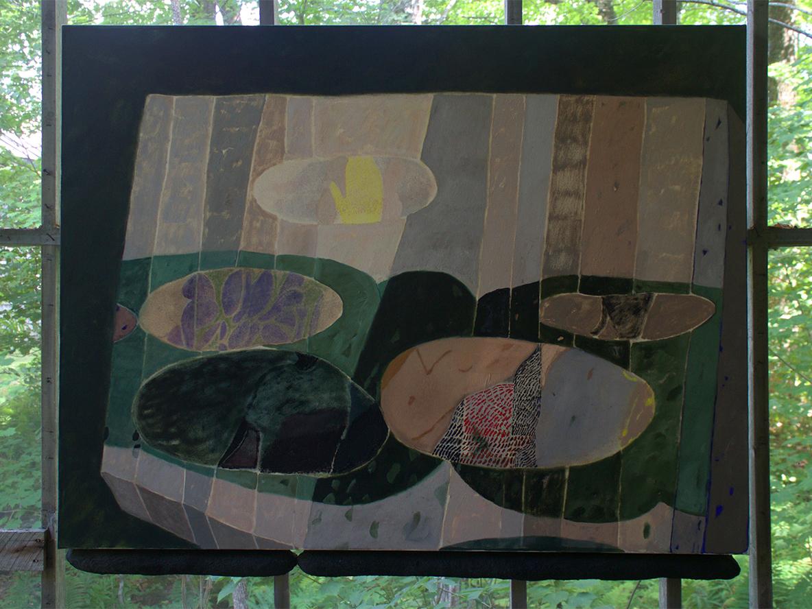 Sophia Flood, Pools, Oil on Canvas, 2016, 50x68 inches