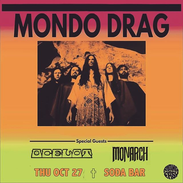 Great line up with @mondodrag and our buds @mon_arch_bros this month @sodabarsd !!