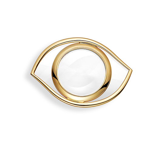 Hermes magnifying glass in golden brass-It makes everything seem bigger. A clever gift for those that need not to receive, but one feels the desire to give. Always Hermes. Always significant.