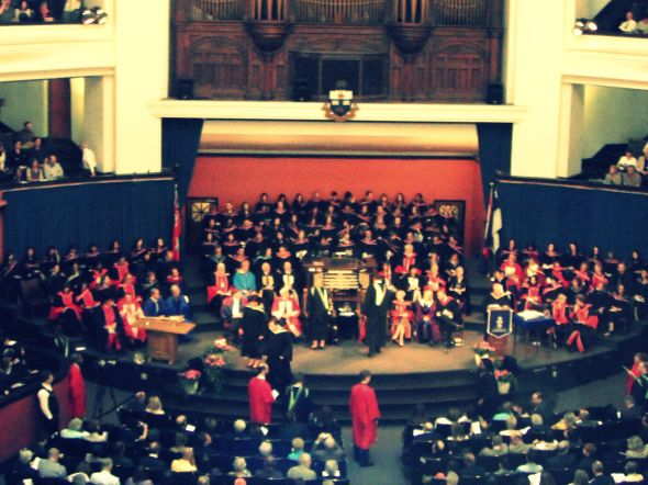 Graduating from my Master's degree at the University of Toronto (c) Arianna's Random Thoughts