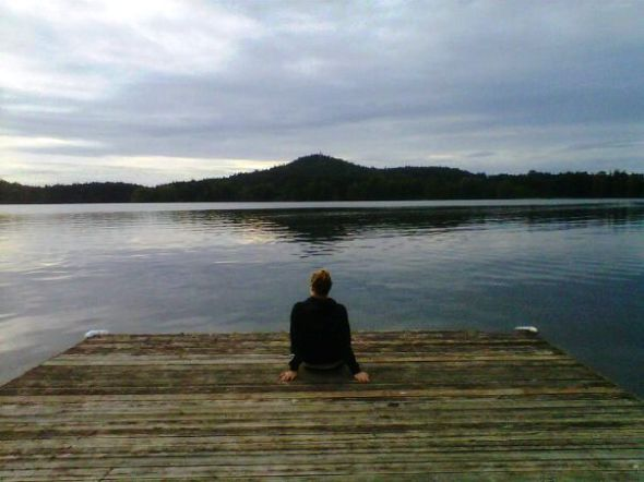 Reflecting by the lake  (c) Arianna's Random Thoughts