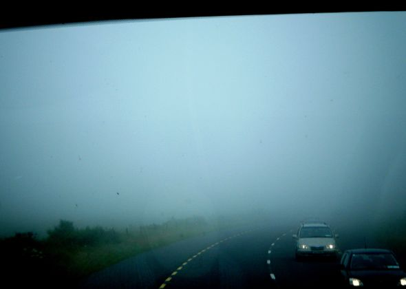 Sometimes the road ahead may appear foggy but persevere! We did and it cleared up.(c) Arianna's Random Thoughts