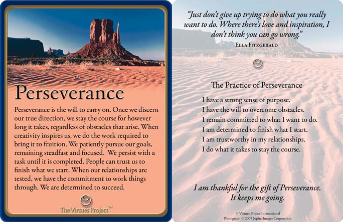 Click on the image to get a set of your own virtue cards.