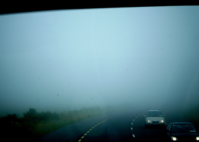 Fog can really limit your sight. Photo Credit: Arianna's Random Thoughts.