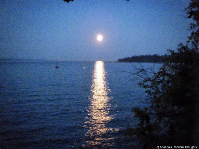 Be like the moon rising over the ocean, and be seen!