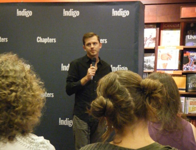 Chris Guillebeau at Chapters Robson. Photo Credit: Arianna Merritt.