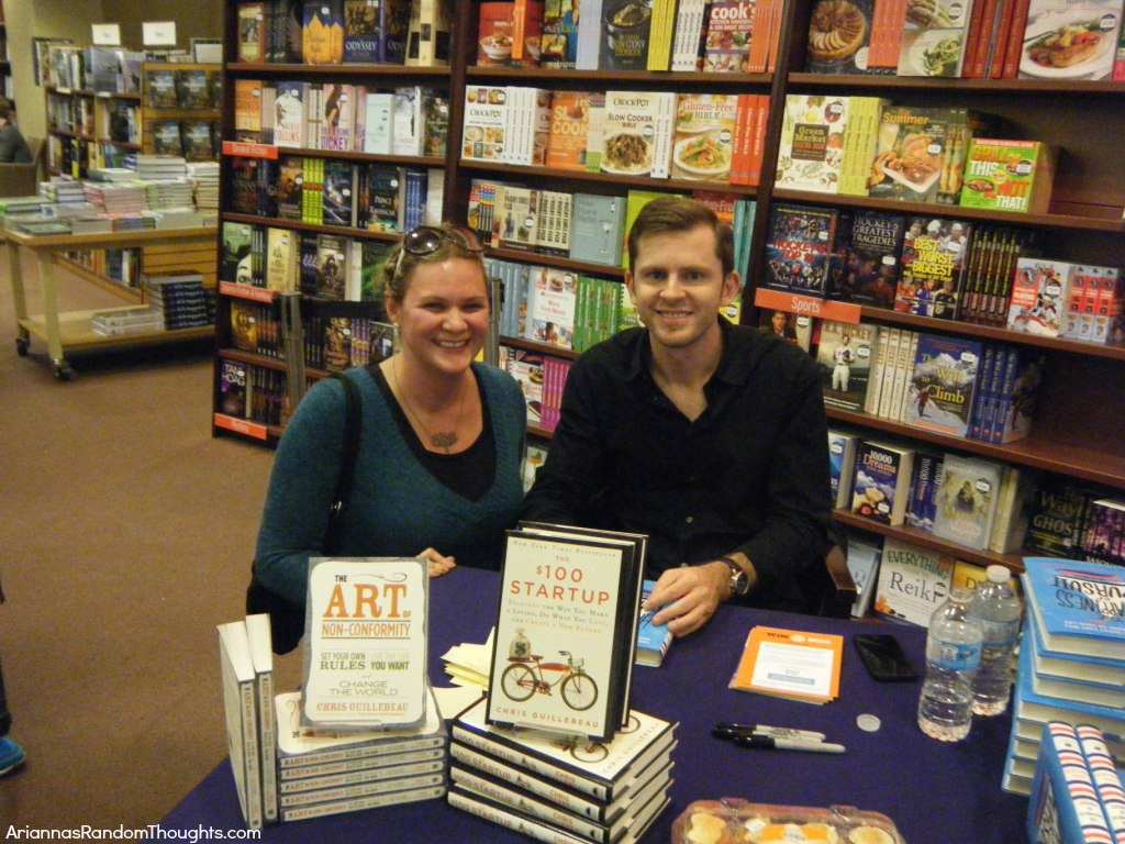 Chris and I at his book signing.