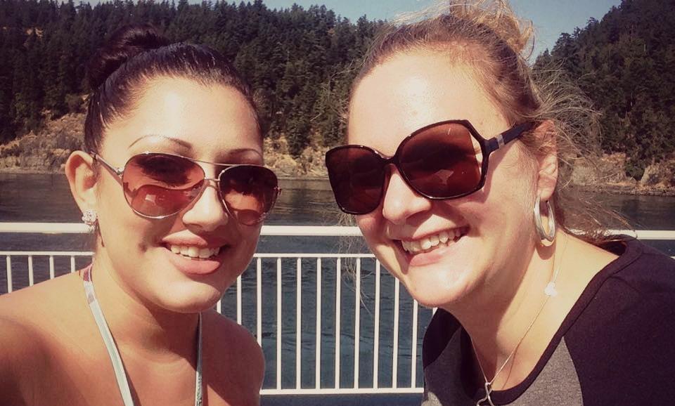 Alexandra & I on the ferry!