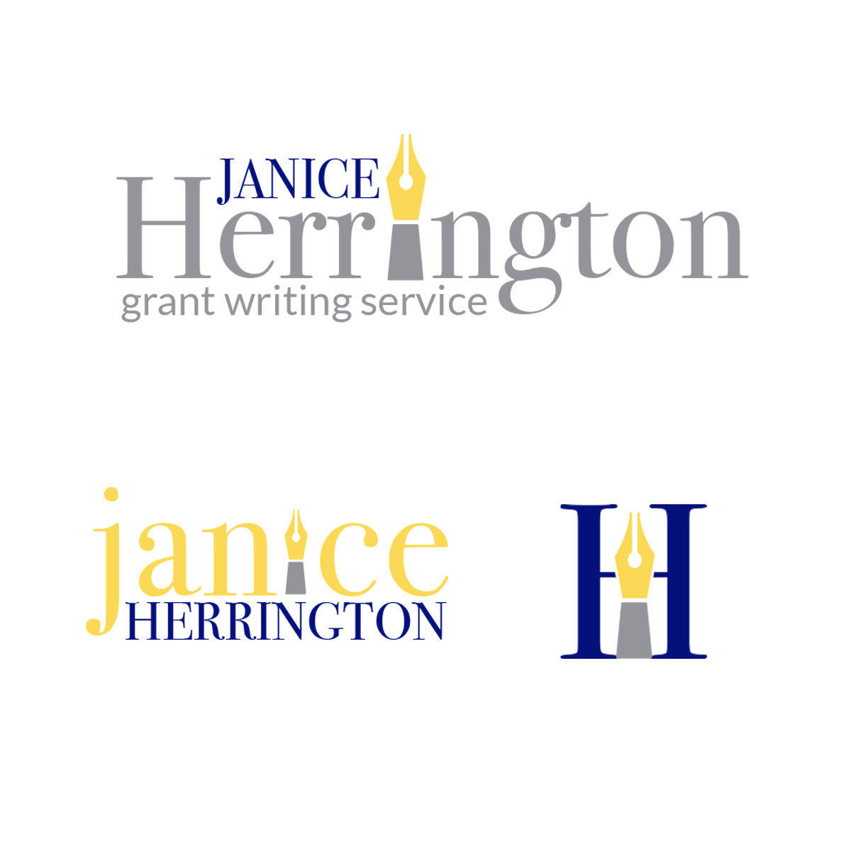 Logo Designs - 3 logo variations are included for additional options in your business.